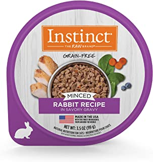 Instinct Grain Free Wet Cat Food, Minced Recipe with Gravy Natural Cat Food