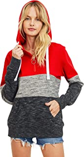 Women's Ultra Soft Fleece 1/4 Zip-Up Pullover Hoodie Sweatshirt