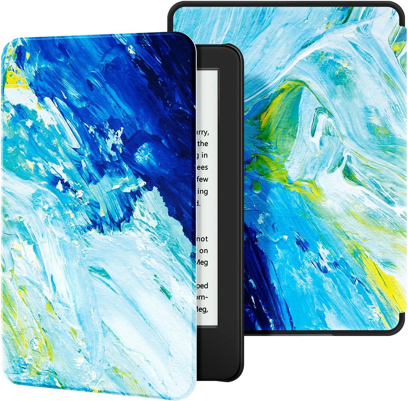 - Funda de Cuero de PU Compatible con el Kindle 2019 de ,The Blue Moonlight OLAIKE Estuche para Kindle 10/ª generaci/ón, versi/ón 2019 no encajar/á con Kindle Paperwhite o Kindle Oasis