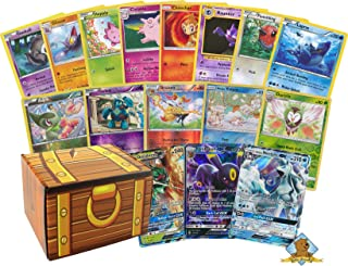 100 Pokemon Card Lot with 2 200 HP Or Higher Pokemon GX Ultra Rares! Pokemon Foils! Includes Golden Groundhog Box!