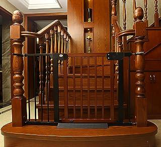 Ycozy BabySafe 安全ゲート ペットゲート 高品質の木材 寝室/キッチン/階段/玄関/ベランダ 子供(6ヶ月~3歳)/犬/猫 壁に穴を開けず 高さ77cm 取付可能幅76-83cm クラシックチェリーレッド