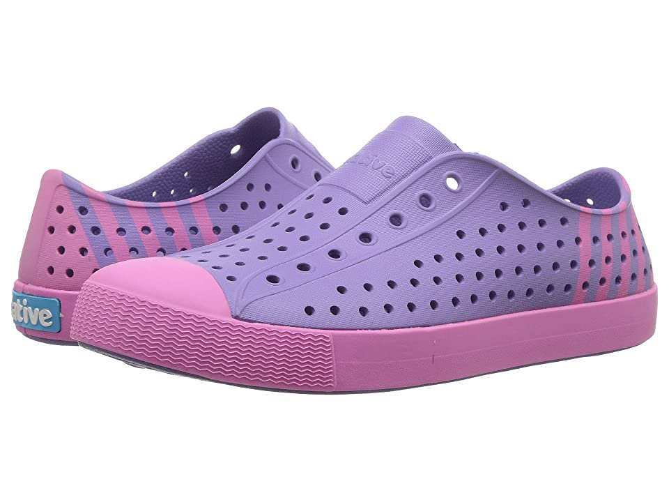 Native Kids Shoes Jefferson Block (Little Kid/Big Kid) (Thistle Purple/Woodward Pink/Woodward Stripe) Girl