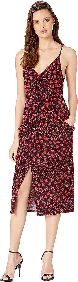 Cocktail Drapey Pocket Knit Dress
