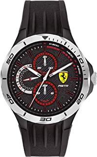 Scuderia Ferrari MEN'S BLACK DIAL BLACK SILICONE WATCH - 830722 0830722