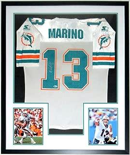 Dan Marino Signed Authentic Miami Dolphins Starter Jersey - Beckett Authentication Services BAS COA - Custom Framed & 2 8x10 Photo 34x42