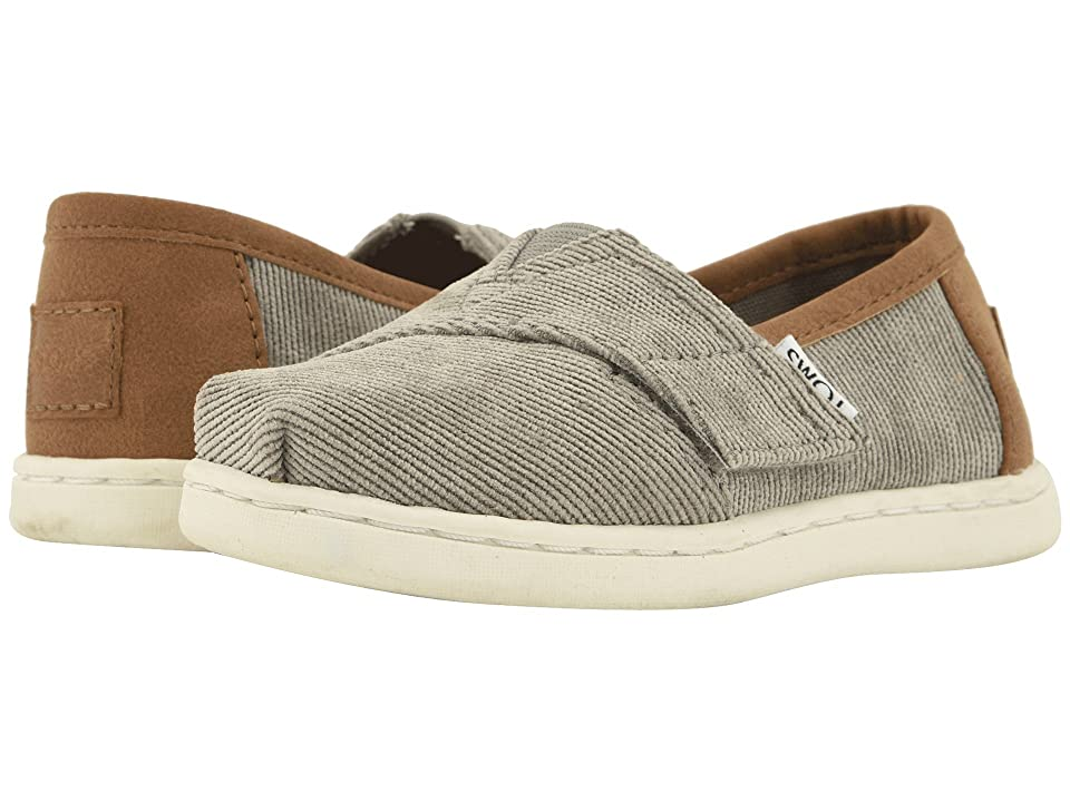 TOMS Kids Alpargata (Infant/Toddler/Little Kid) (Cement Micro Corduroy/Synthetic Leather) Boy