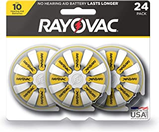 Rayovac Hearing Aid Batteries Size 10 for Advanced Hearing Aid Devices (24 Count)