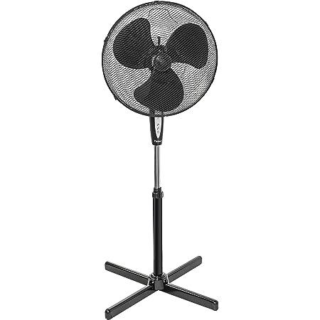 Bestron Ventilateur sur pied oscillant avec télécommande, Hauteur : 122 cm, Ø 45 cm, 45 W, Noir