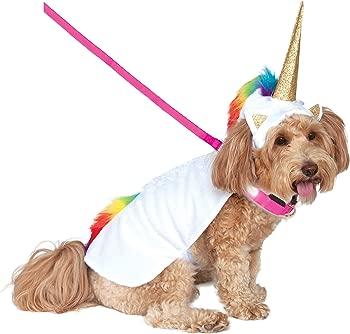 Rubie's Unicorn Cape with Hood and Light-Up Collar Pet Costume