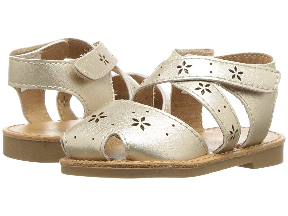 Baby Deer First Steps Sandal with Cut Outs (Infant/Toddler) (Champagne) Girls Shoes
