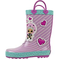 L.O.L Surprise! Girls Rainboots, Fancy and Fresh, 100% Rubber, Waterproof with Easy-on Handles,...