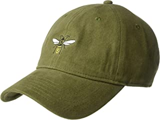 Concept One Men's Bumble Bee Embroidered Baseball Cap, Olive, One Size