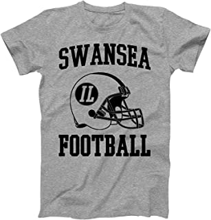 Vintage Football City Swansea Shirt for State Illinois with IL on Retro Helmet Style