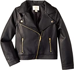 Faux Leather Moto Jacket (Little Kids/Big Kids)