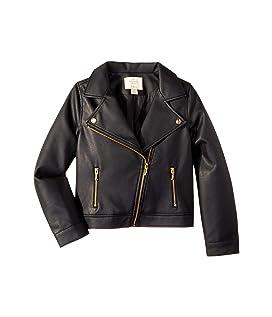 Faux Leather Moto Jacket (Little Kids/Big Kids)