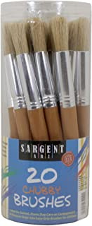 Sargent Art 56-4000 Chubby Brushes with Plastic Handles, 20 Count