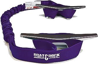 Haak & Cord Boot Dock Tie Bungee, Gemaakt in USA, 2 Loop Pack van 2, 30 inch lang (paars, 30 Inch)