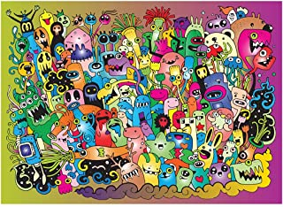 Bgraamiens Puzzle-Lovely Monsters-1000 Pieces Cute Cartoon Color Jigsaw Puzzles