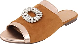 Catwalk Tan Flat Sandals