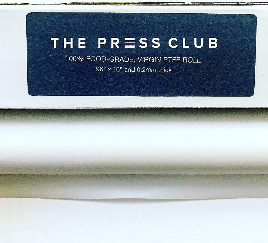 2 Rolls In 1 Premium Super Slick PTFE Film Roll 0 2mm Thick 96 X 16 100 Virgin Food Grade Solvent Terpene Resistant Parchment Paper Alternative