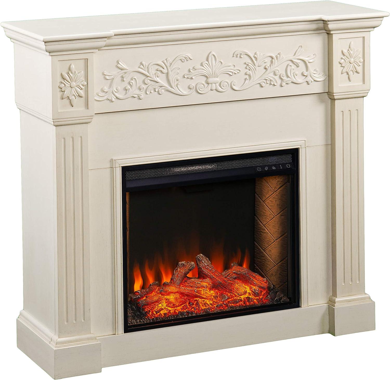 贈呈 SEI Furniture Calvert Alexa-Enabled Floral 商い Electric Trim Carved