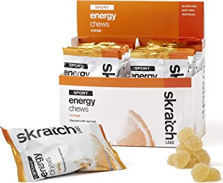 SKRATCH LABS Sport Energy Chews, Orange (10 pack) - Natural, Developed for Athletes and Sports Performance, Gluten Free, Dairy Free, Vegan