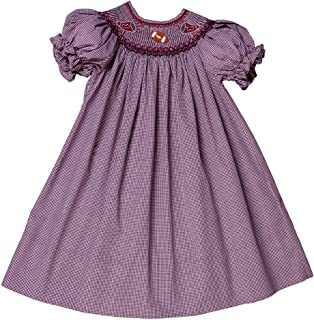 Rosalina Little Girl's Smocked Football Bishop