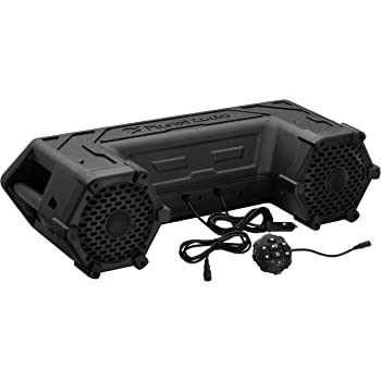 Planet Audio PATV65 ATV UTV Weatherproof Sound System - 6.5 Inch Speakers, 1.5 Inch Tweeters, Built-in Amplifier, Bluetooth, Built-in LED Lightbar, Easy Installation for 12 Volt Vehicles