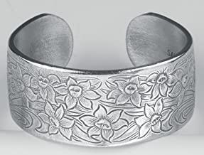 Pewter Flower of the Month Bracelet - Mar