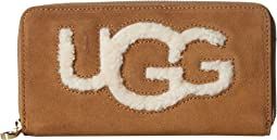 Honey Zip Around Wallet Sheepskin