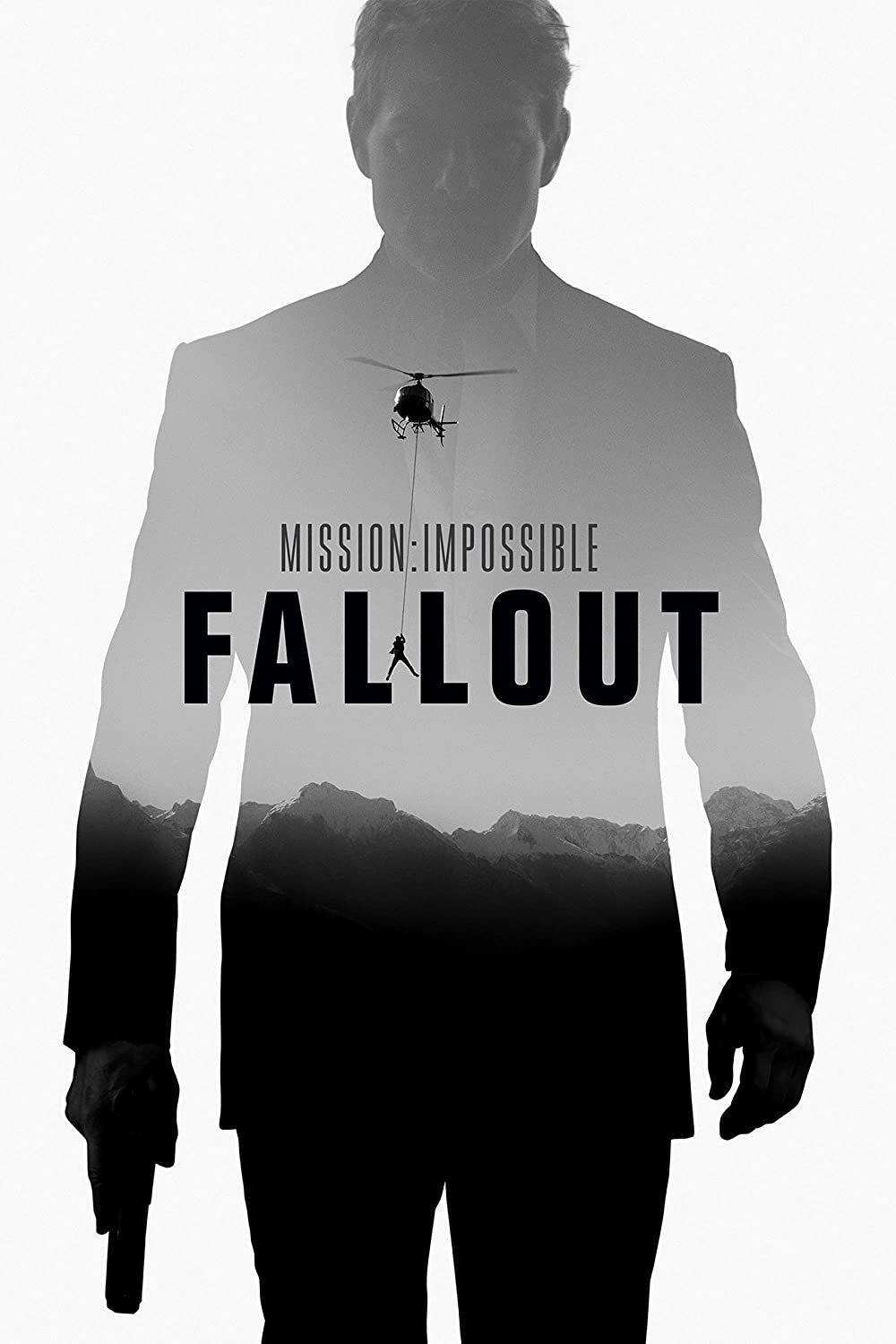 Black Creations Mission Impossible Fallout Movie Poster Canvas Picture Art Print Premium Quality A0 A1 A2 A3 A4 (A0 Canvas (30 40))