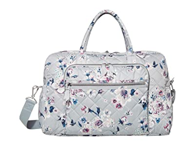 Vera Bradley Iconic Performance Twill Weekend Travel Bag (Park Stripe) Carry on Luggage