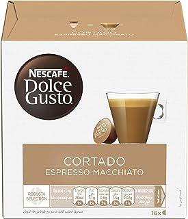 Nescafe Dolce Gusto Espresso Macchiato, Cortado Coffee Capsules - 16 Capsules