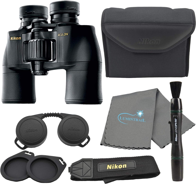 In stock Selling Nikon Aculon A211 10x42 Binoculars Black Ni with Bundle a 8246