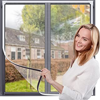 Magnetyczna moskitiera okienna maks. 120 x 130 cm pasuje do każdego rozmiaru mniejszych DIY łatwa instalacja zatrzymuj rob...