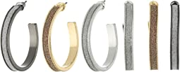 Steve Madden - Glitter Hoop Trio Earrings Set