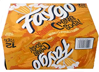Faygo Creme Soda pop, 12-pack, 12-ounce cans