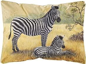 Zebras by Daphne Baxter Fabric Decorative Pillow