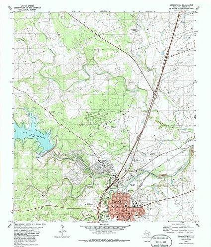 Texas Topo Map Amazon.: YellowMaps Georgetown TX topo map, 1:24000 Scale, 7.5