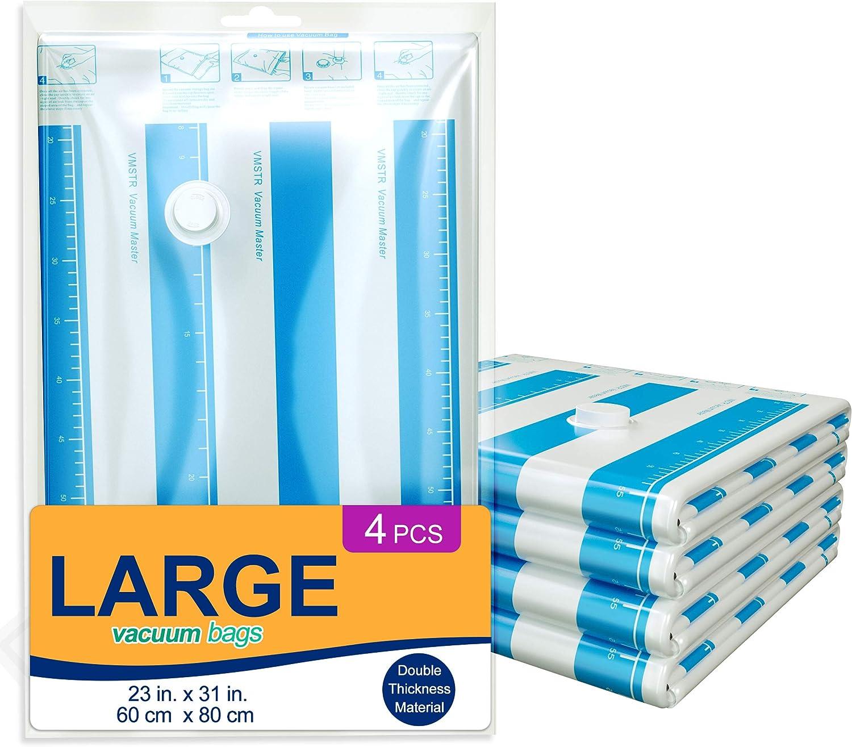 VMSTR Premium Large Vacuum Storage Bags Regular discount 1 year warranty C 4 Space Saver 80% Pack