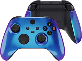 eXtremeRate Chameleon Purple Blue Replacement Handles Shell for Xbox Series X Controller, Custom Side Rails Panels Front Housing Shell Faceplate for Xbox Series S Controller - Controller NOT Included