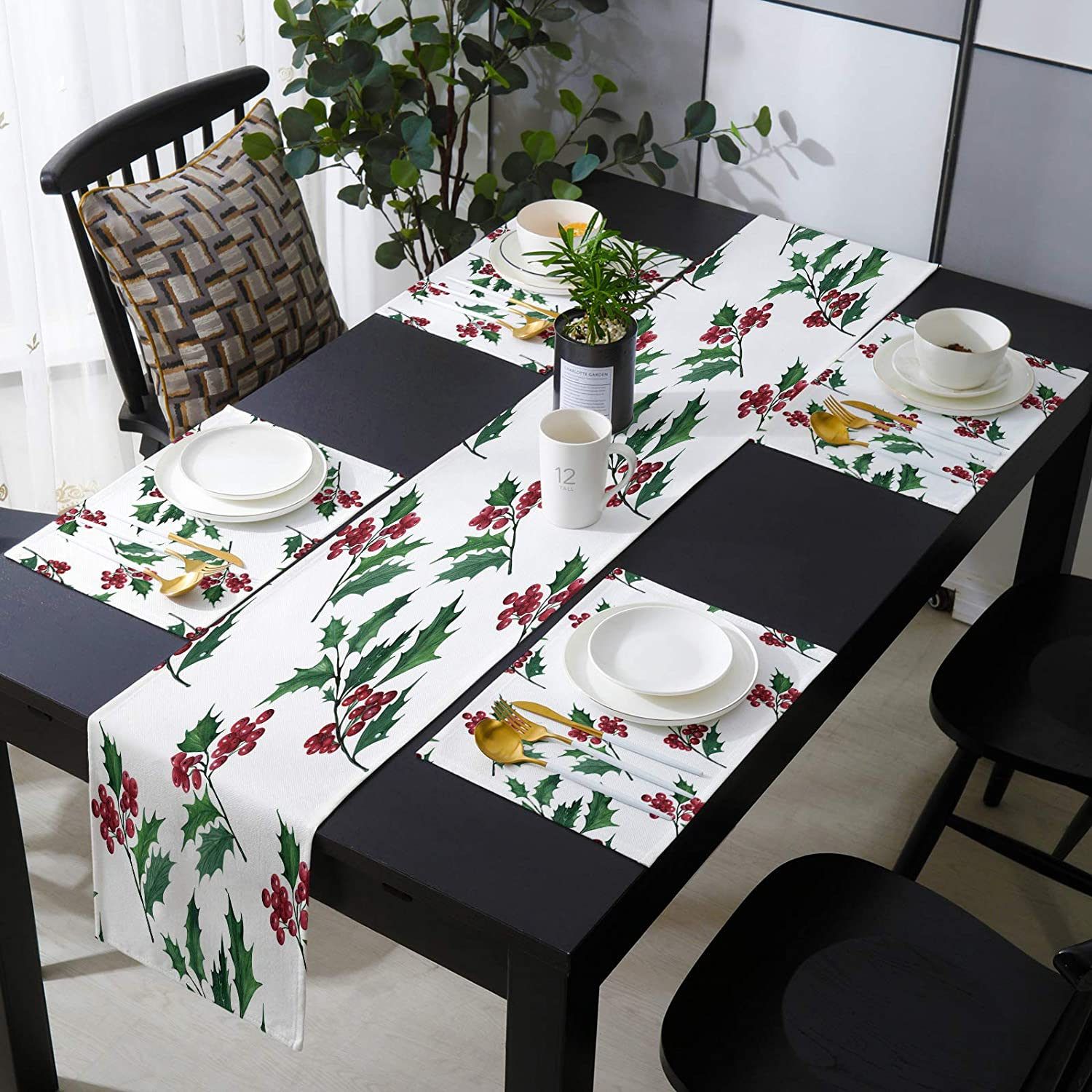 Fangship 13'' x 90'' Table Runner Ranking TOP17 Placemats with Set 6 of Christ Ranking TOP6