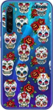 dakanna Funda para [Xiaomi Redmi Note 8] de Silicona Flexible, Dibujo Diseño [Pattern Calaveras de azucar Estilo Mexicano con Flores], Color [Fondo Transparente] Carcasa Case Cover de Gel TPU