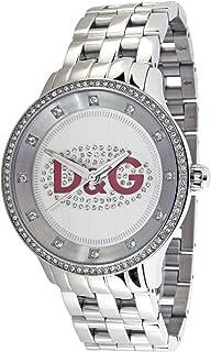 Dolce&Gabbana - DW0144 - Montre Femme - Quartz Analogique - Cadran Blanc - Bracelet Acier Argent