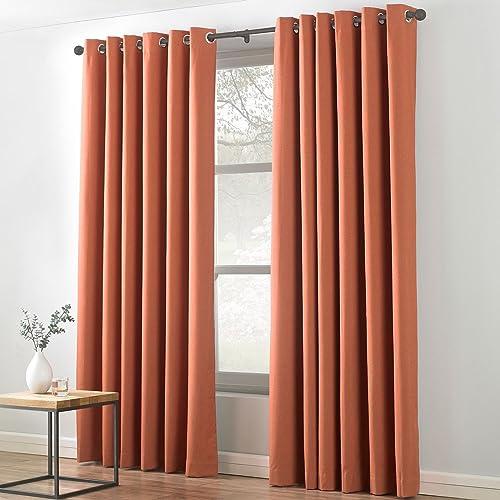 Burnt Orange Curtains: Amazon.co.uk