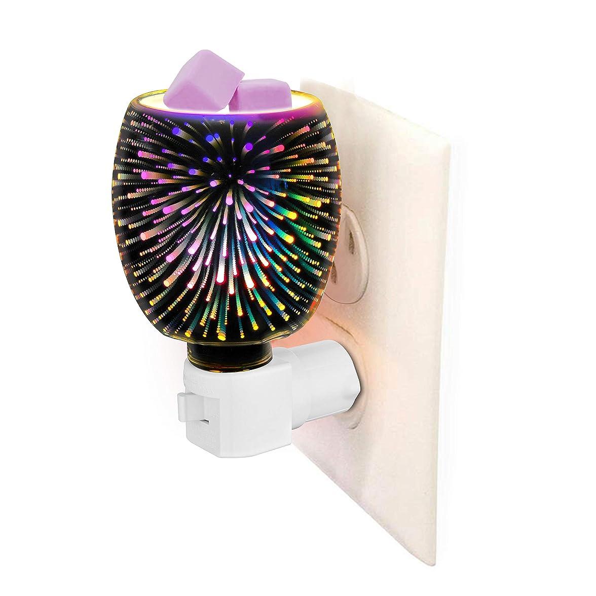 スケッチ重要な説明する3D Glass Pluggable Fragrance Warmer- Decorative Plug-in for Warming Scented Candle Wax Melts and Tarts or Essential Oils 141[並行輸入]