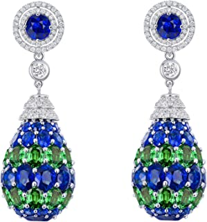 Best sapphire drop earrings gold Reviews
