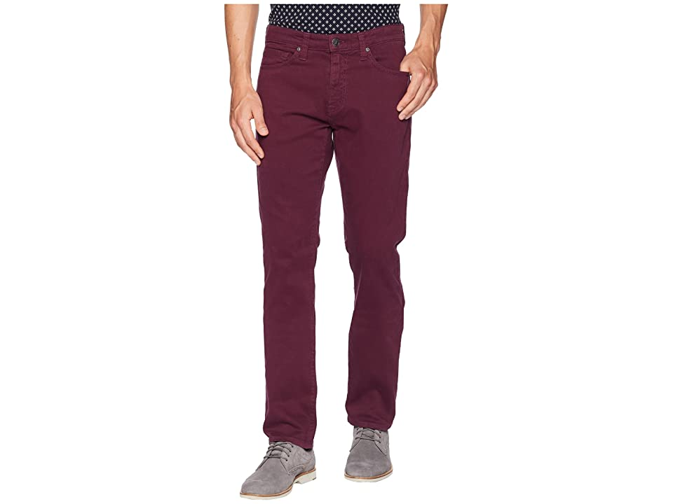Agave Denim Rinson Twill Rocker Fit Pant (Grape Wine) Men's Casual Pants