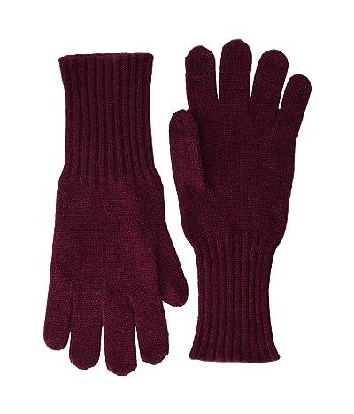 J.Crew Cashmere Gloves (Vintage Burgundy) Dress Gloves