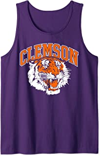 Clemson Vintage South Carolina Sports Retro Tiger Face Gift Tank Top